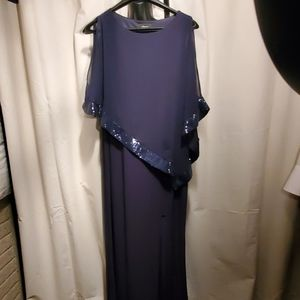 Size 16, Beautiful sexy sequin navy blue dress